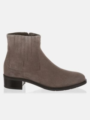 Suede Round Toe Booties by Aquatalia