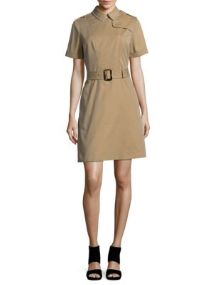 Short Sleeve Cotton Sheath Dress by Burberry