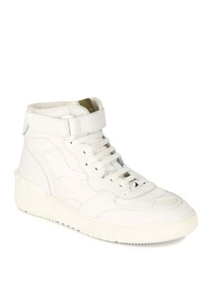 Leather Mid Top Sneakers by Valentino Garavani