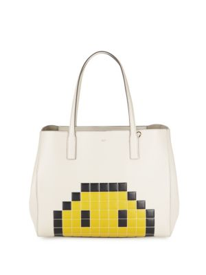 Ebury Pixel Leather Tote by Anya Hindmarch