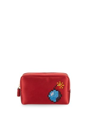Pixel Satin Makeup Bag by Anya Hindmarch