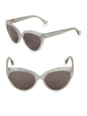 Marble 56 Mm Cateye Sunglasses by Balenciaga