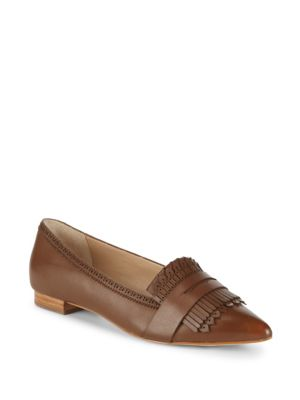 Kayla Fringed Leather Loafers by Saks Fifth Avenue