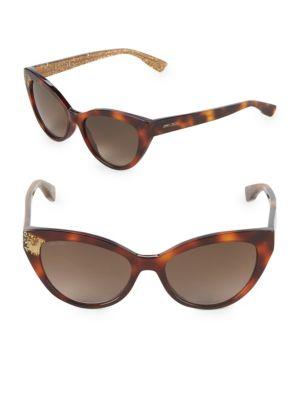 Jimmy Choo Costy S 54mm Cat Eye Glitter Sunglasses