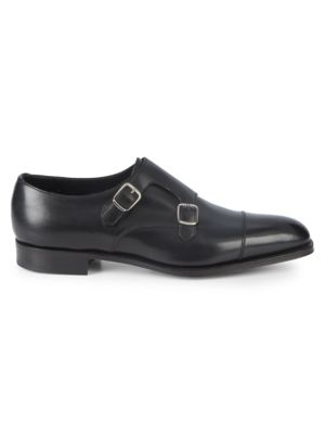 Westminister Leather Double Monk Strap Shoes by Edward Green