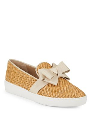 val-woven-bow-skate-sneakers by michael-kors-collection