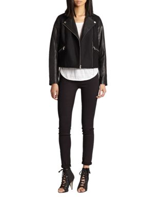 Karlie Leather & Wool Jacket by Marc By Marc Jacobs