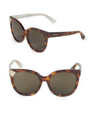 Mirta 56 Mm Glitter Cat Eye Sunglasses by Jimmy Choo