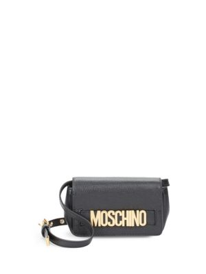 Magnetic Leather Crossbody Bag by Moschino