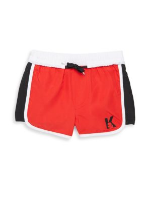 Little Boy's & Boy's Elasticized Swimming Shorts by Karl Lagerfeld