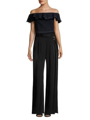 T By Cotton Burlap Off The Shoulder Cropped Top by Alexanderwang.T