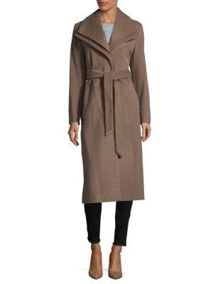 Knee Length Wrap Coat by T Tahari