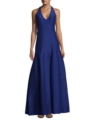 Flared Halter Gown by Halston Heritage