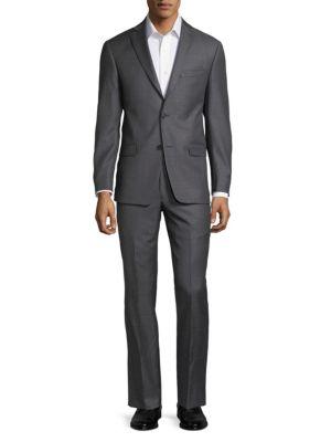 Notch Lapel Wool Suit by Michael Kors