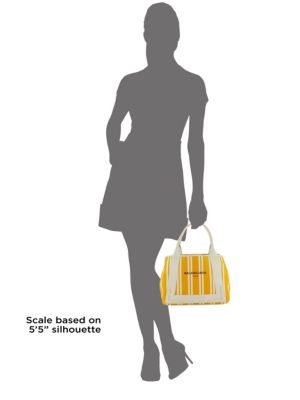Expandable Striped Shopper by Balenciaga
