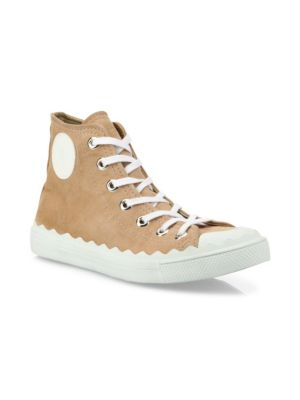 Kyle Suede High Top Sneakers by Chloé