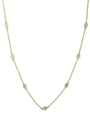 Super Buy 14 K Yellow Gold And Diamonds Necklace by Effy