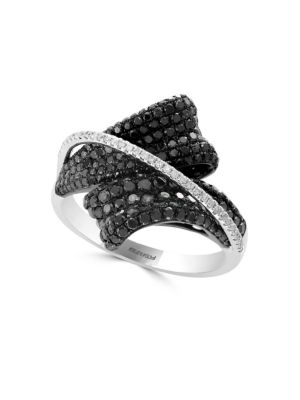 Black Diamond, Diamond And 14 K White Gold Ring, 2.24 Tcw by Effy
