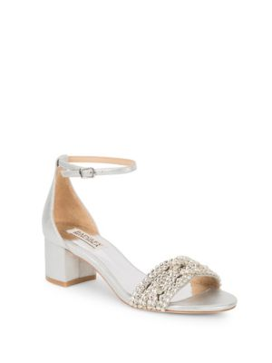 Triana Satin Open Toe Pumps by Badgley Mischka