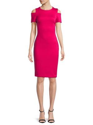 Cold Shoulder Shift Dress by Calvin Klein