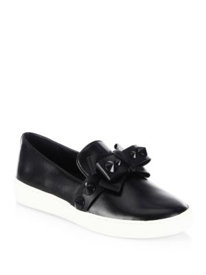 val-leather-sneakers by michael-kors-collection