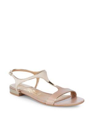 Leather Open Toe Sandals by Salvatore Ferragamo