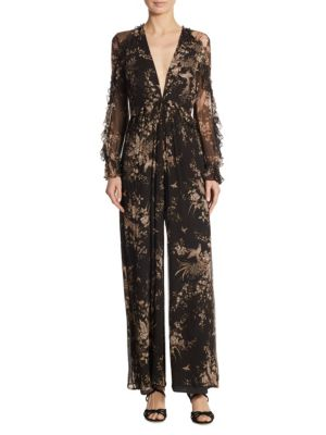 Feathery Silk Jumpsuit by Zimmermann