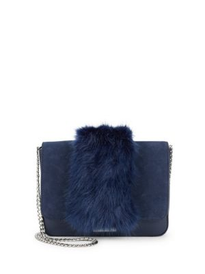 Faux Fur Lock Shoulder Bag by Loeffler Randall