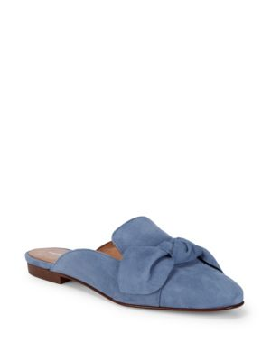 Bow Suede Mules by Saks Fifth Avenue