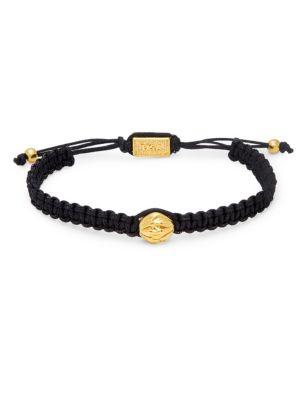 Brass Bead Macramé Bracelet by King Baby Studio