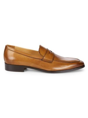 Leather Penny Loafers by Saks Fifth Avenue Made In Italy