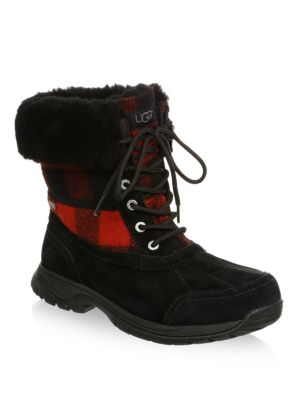 detailed look d33ab 1634f Shoptagr | Butte Waterproof Buffalo Check Ugg Pure Winter ...