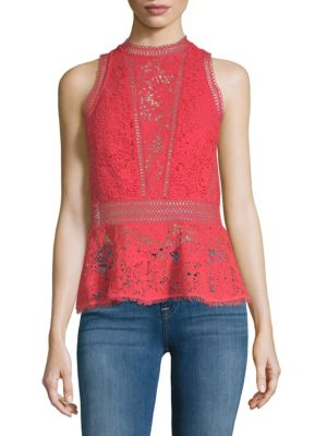 Arella Peplum Top by Rebecca Taylor