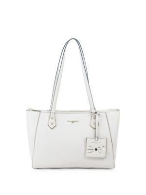 Classic Leather Tote by Karl Lagerfeld Paris