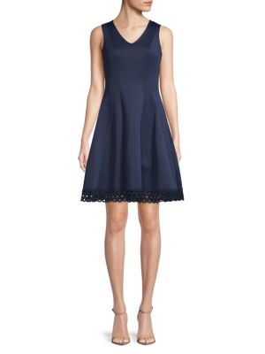 Sleeveless Fit & Flare Dress by Donna Ricco