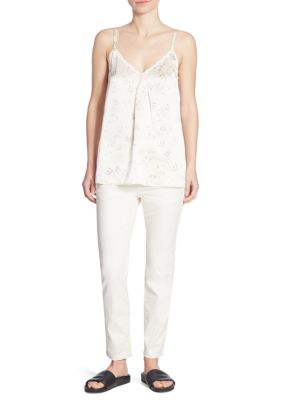 Floral Print Silk Camisole by Vince