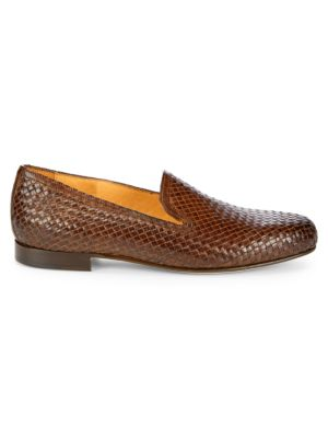 Woven Leather Loafers by Saks Fifth Avenue Made In Italy