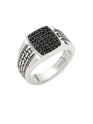 Black Sapphire & Sterling Silver Ring by Effy