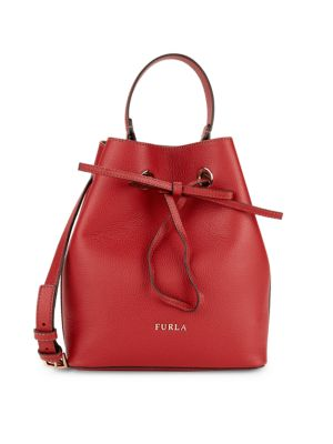 Costanza Leather Bucket Bag by Furla