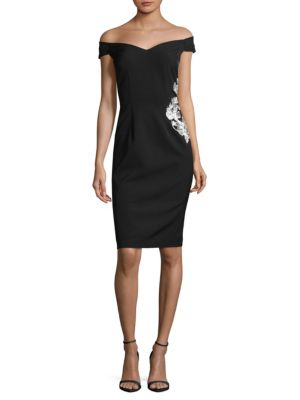 Off The Shoulder Sheath Dress by Js Collections