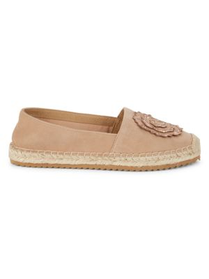 Abby Embellished Leather Espadrilles by Karl Lagerfeld Paris