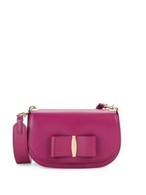 Small Vara Leather Crossbody Bag by Salvatore Ferragamo