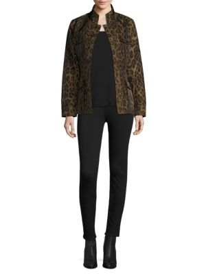 Leopard Print Safari Jacket by Jane Post