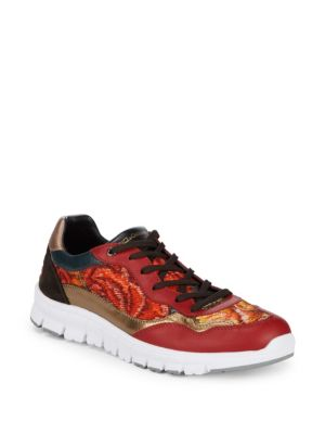 Lace Up Low Top Sneakers by Dolce & Gabbana