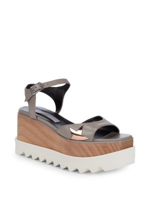 Metallic Star Wedge Sandals by Stella Mc Cartney