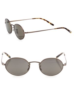 Empire Suite 49 Mm Oval Sunglasses by Oliver Peoples