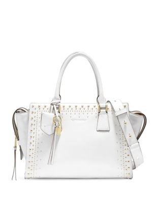 Marli Stud Leather Satchel by Cole Haan