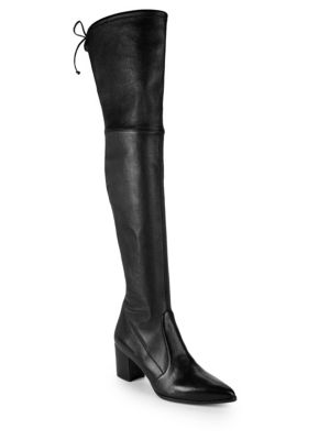 Thighland Leather Over The Knee Boot by Stuart Weitzman