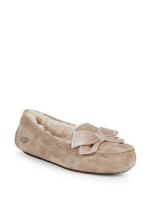 Clara Velvet Ribbon Suede Slippers by Ugg Australia