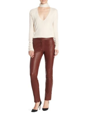 Leather Crop Pants by Theory